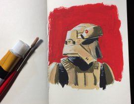 Star Wars Shoretrooper painting