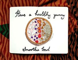 Have a healthy yummy smoothie bowl