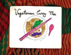 Vegetarian curry mee
