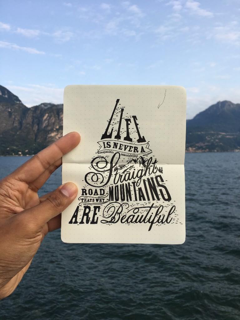 Moleskine Lake Como Typographic Sketch