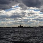 Statue of Liberty covered by an ocean of clouds