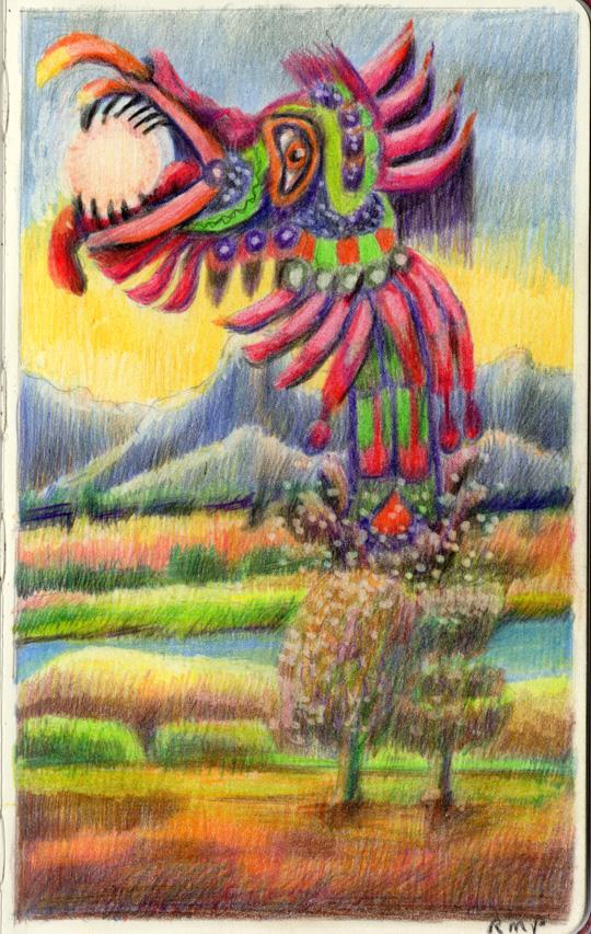 Quetzalcoatl eats the Sun