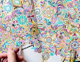 Rainbow Zentangle