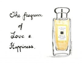 The fragrance of love and happiness