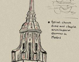Madrid steeple