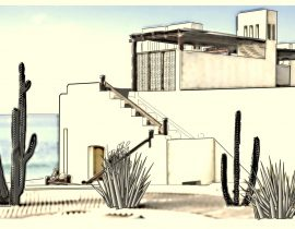 study on architectural style of Cabo San Lucas, Mexico