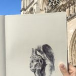 Me and my moleskine in Paris