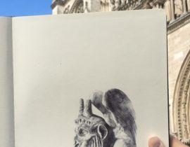 Me and my moleskine in Paris