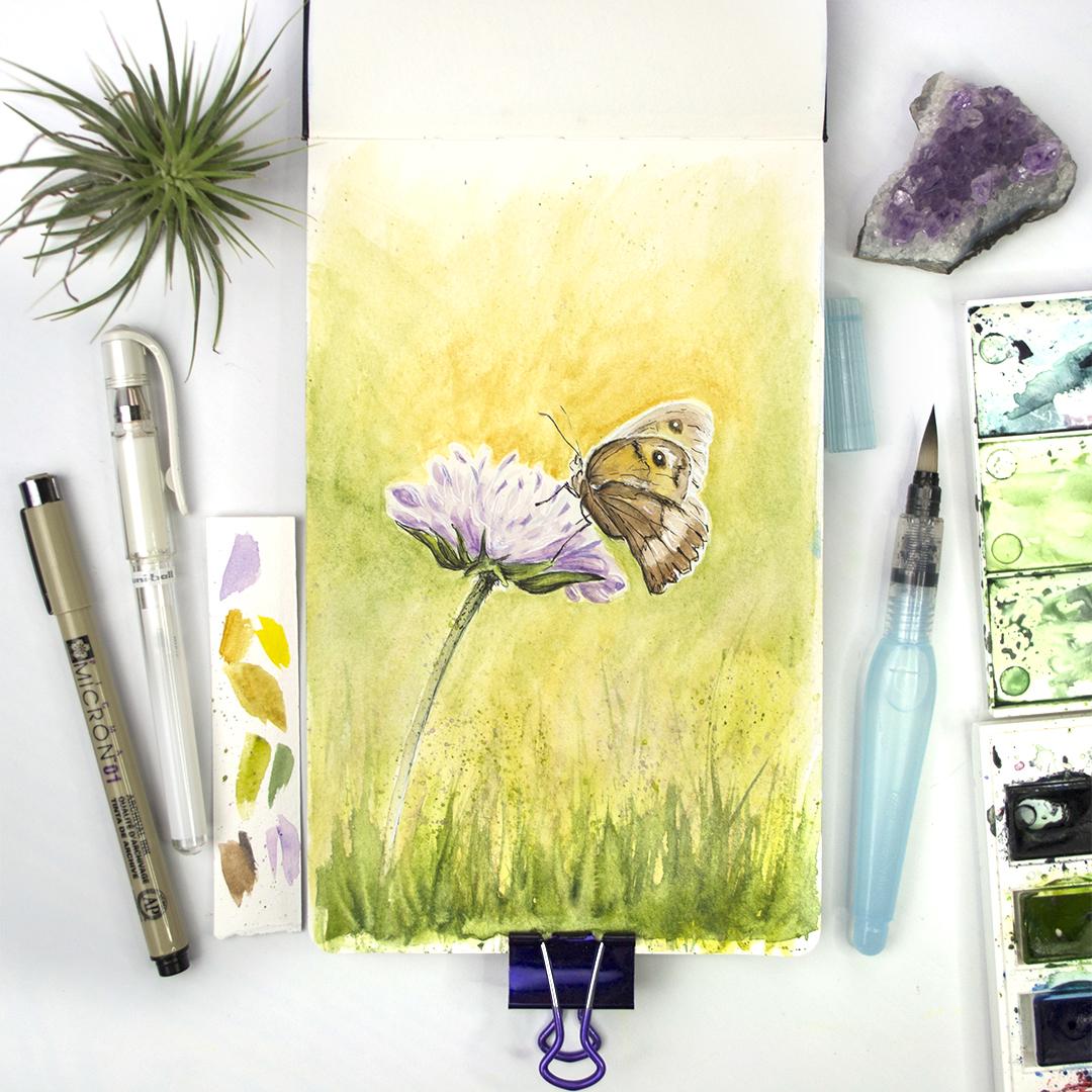 Flower & Moth