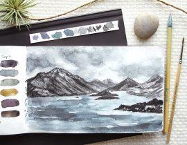 Loose Mountain Seascape