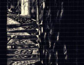 Santorini back alley at night