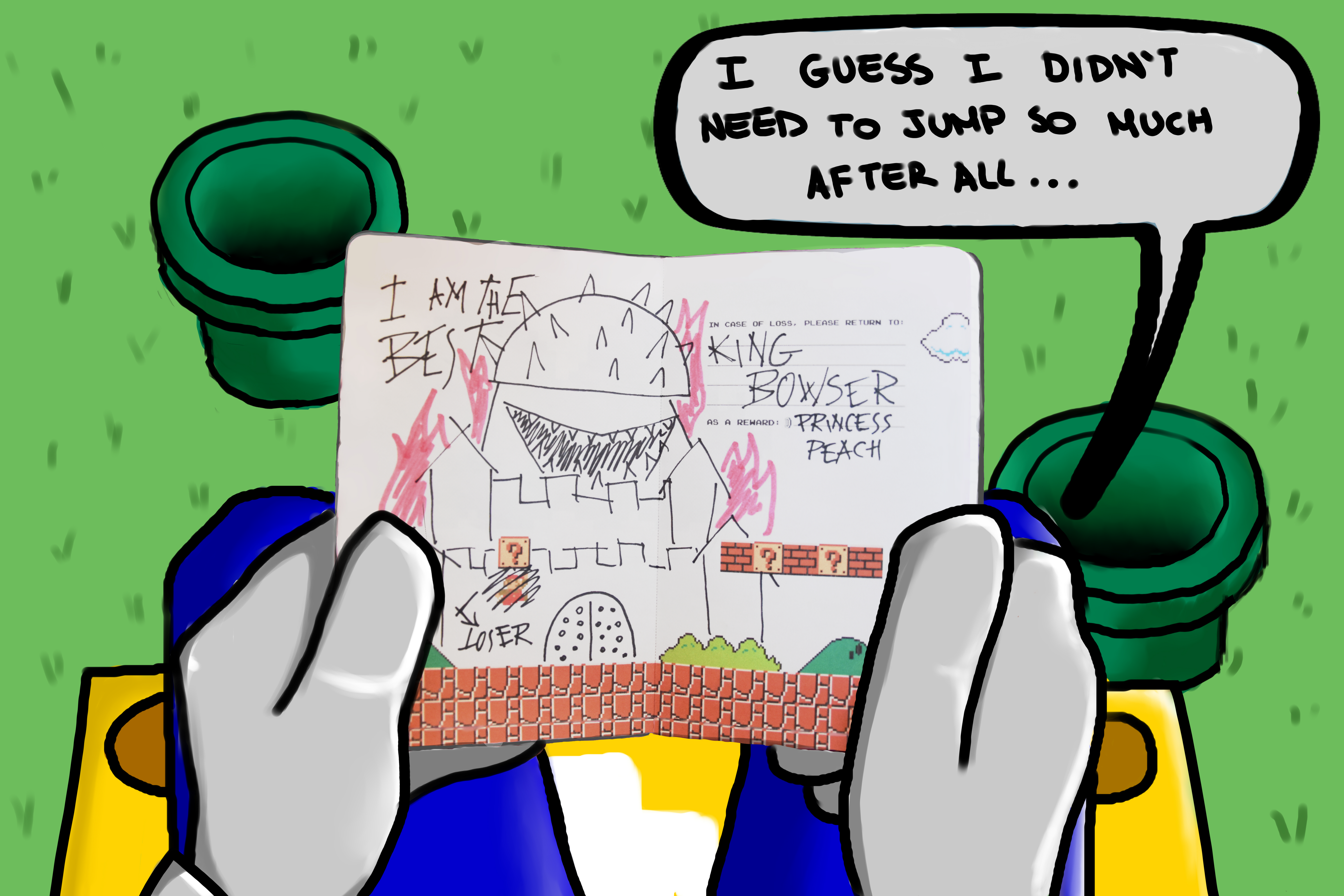Super Mario finds Bowser's Moleskine
