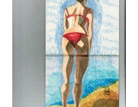 Vanessa On The Beach
