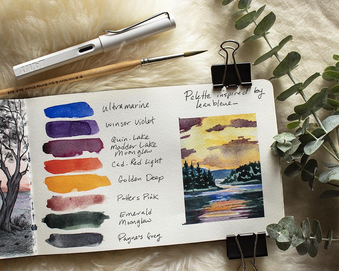 Color Palette & Mini Landscape Study