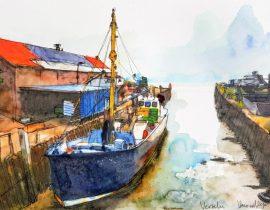 Musselboat in Yerseke