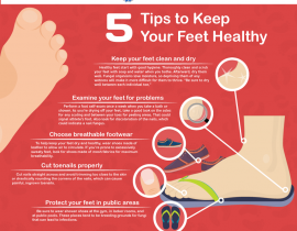 5 Tips to keep your feet healthy