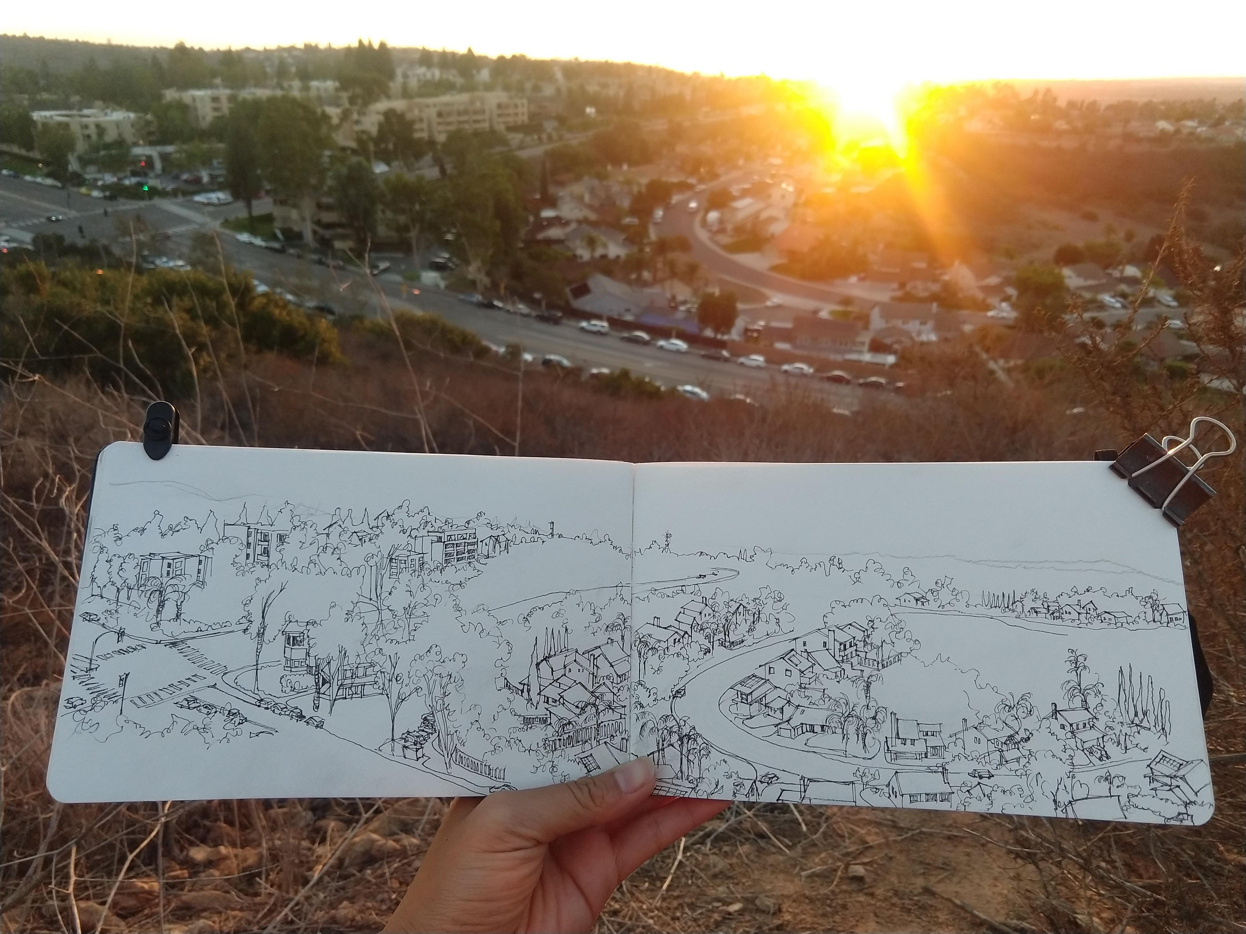 Sunset in San Diego In Progress 1