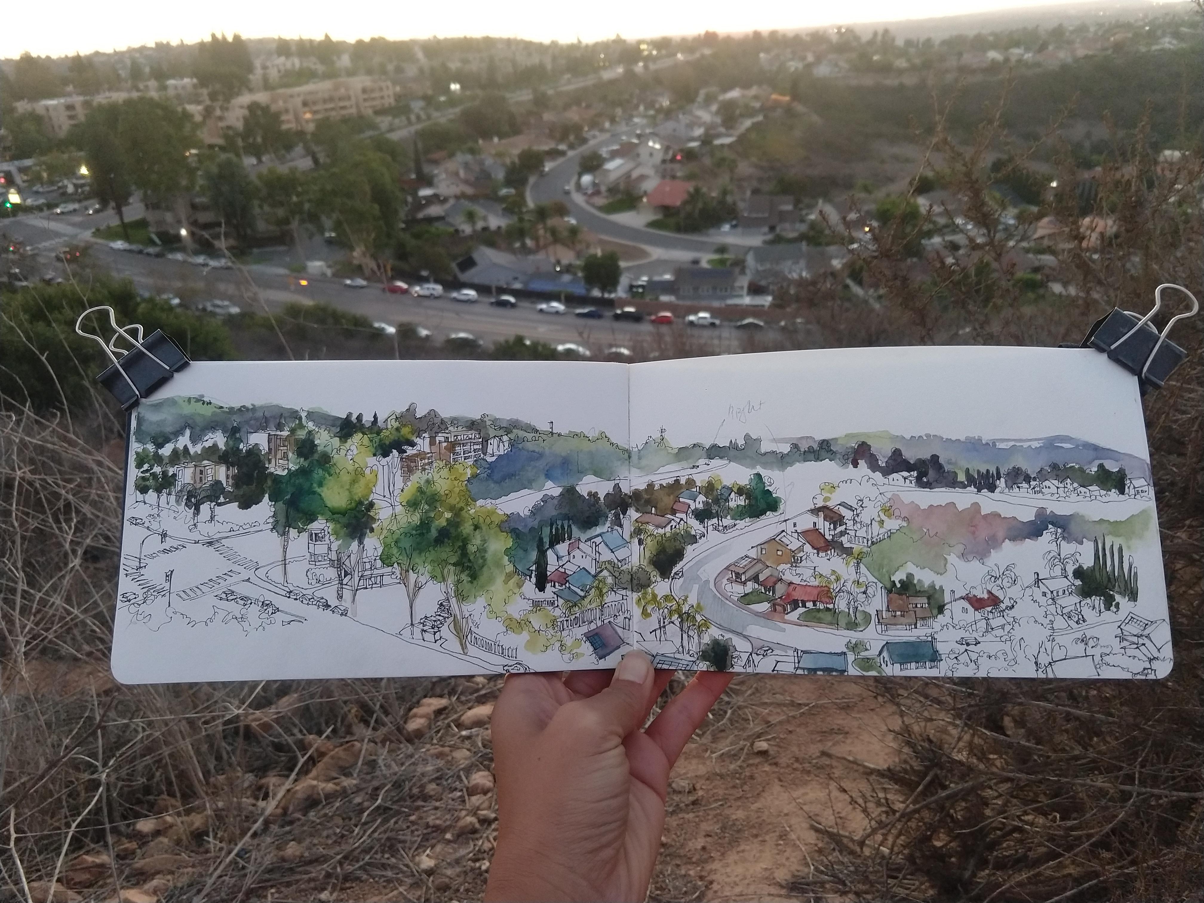 Sunset in San Diego In Progress