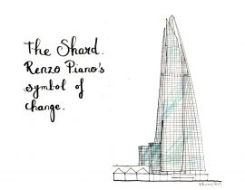The Shard by Renzo Piano. Symbol of change