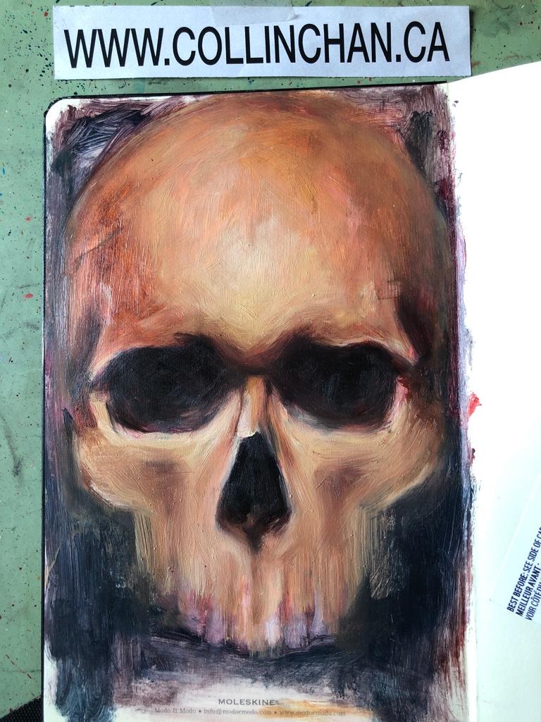 Oil Sketching in my Moleskine