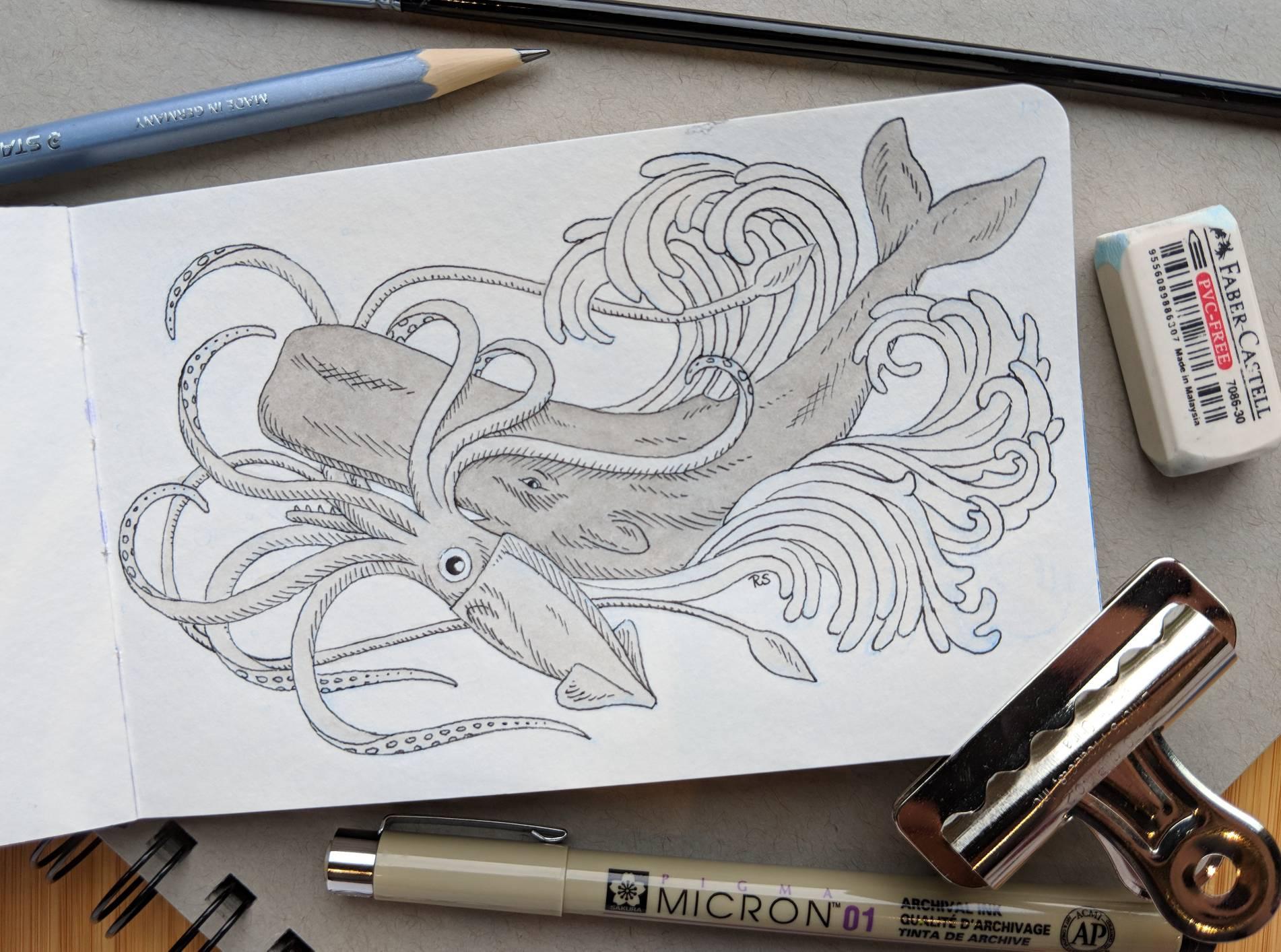 Whale vs Squid