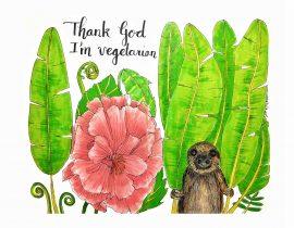 Thank god I'm vegetarian…