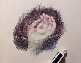 Hand study with Ballpoint pen