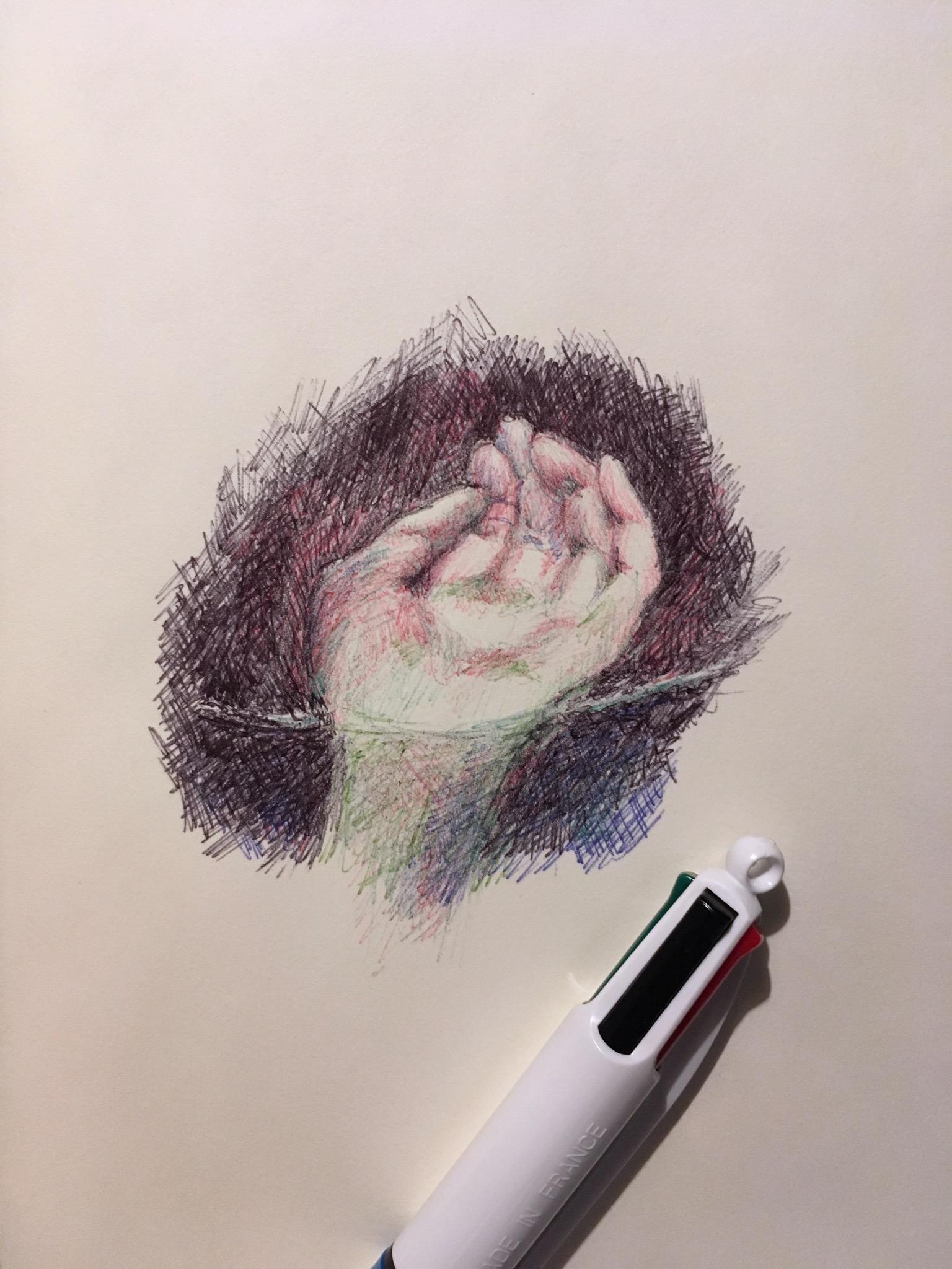Hand study with Ballpoint pen