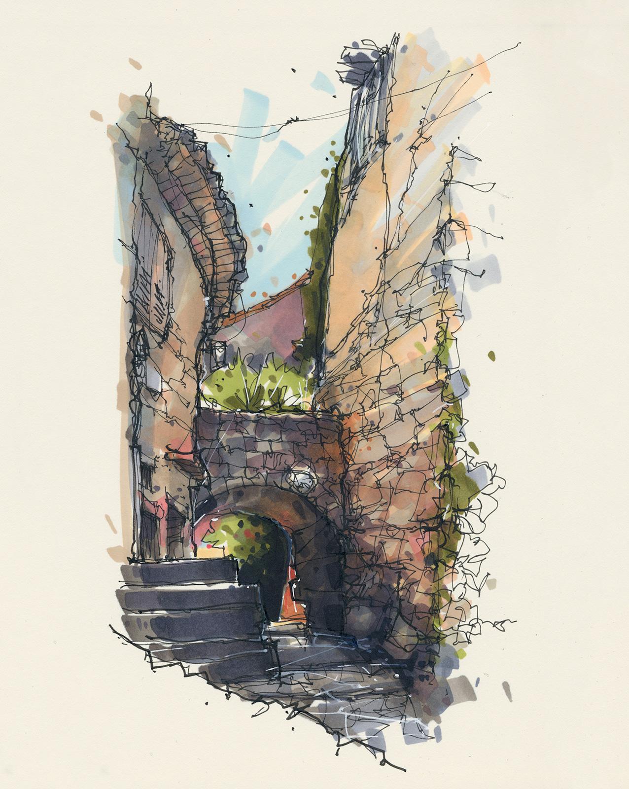 Passage, Les Arcs, Provence, France