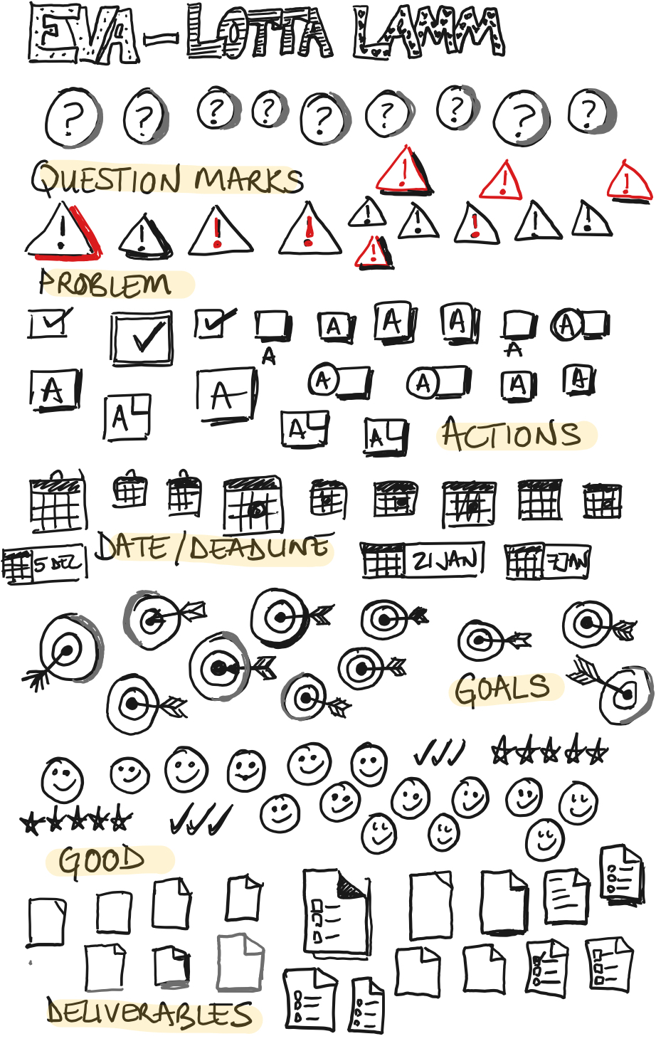 Smart writing icon practice