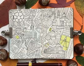 City Map Drawing of Brussels