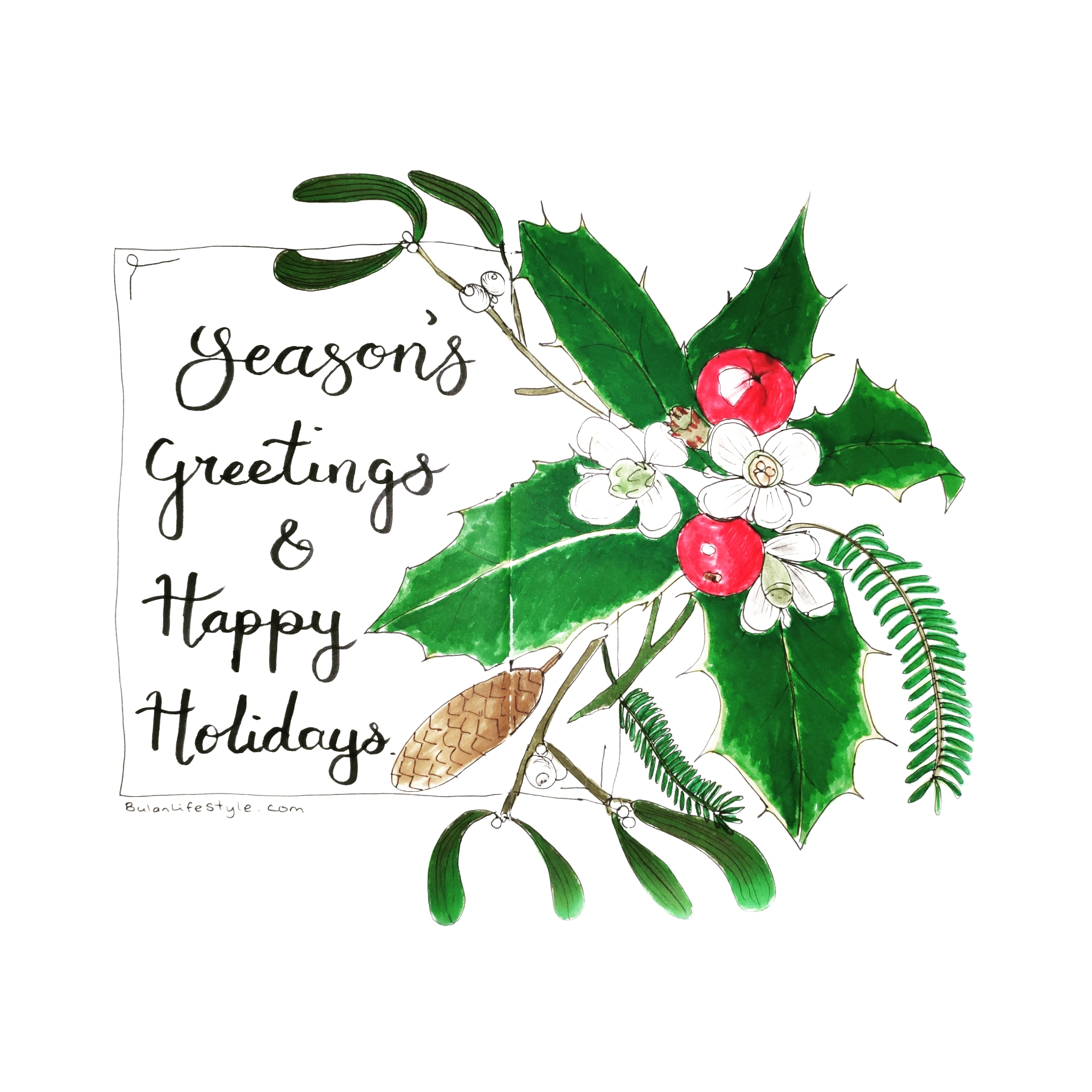 Season's greetings and Happy holidays