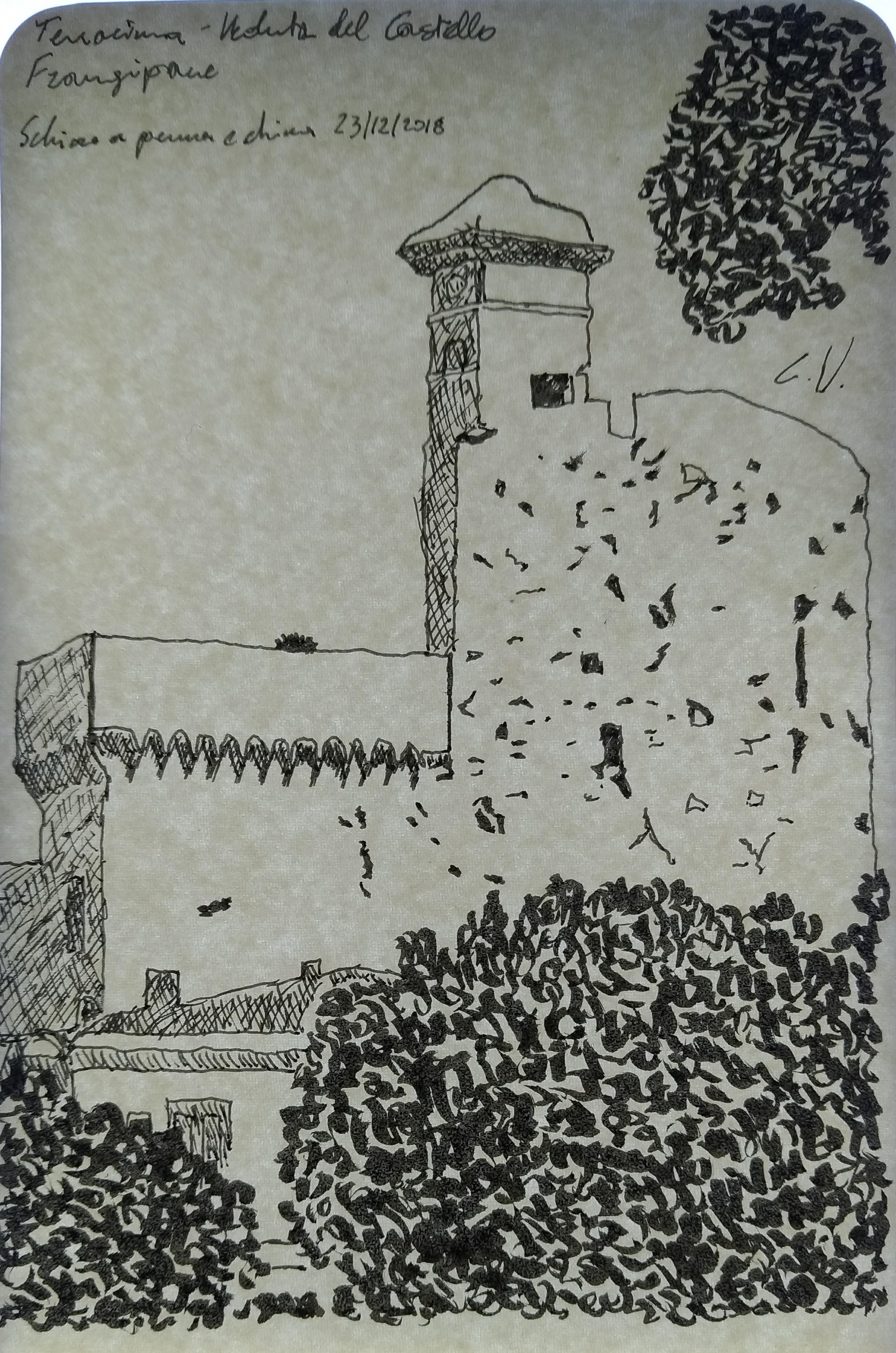The Frangipane Castle in Terracina (Italy)