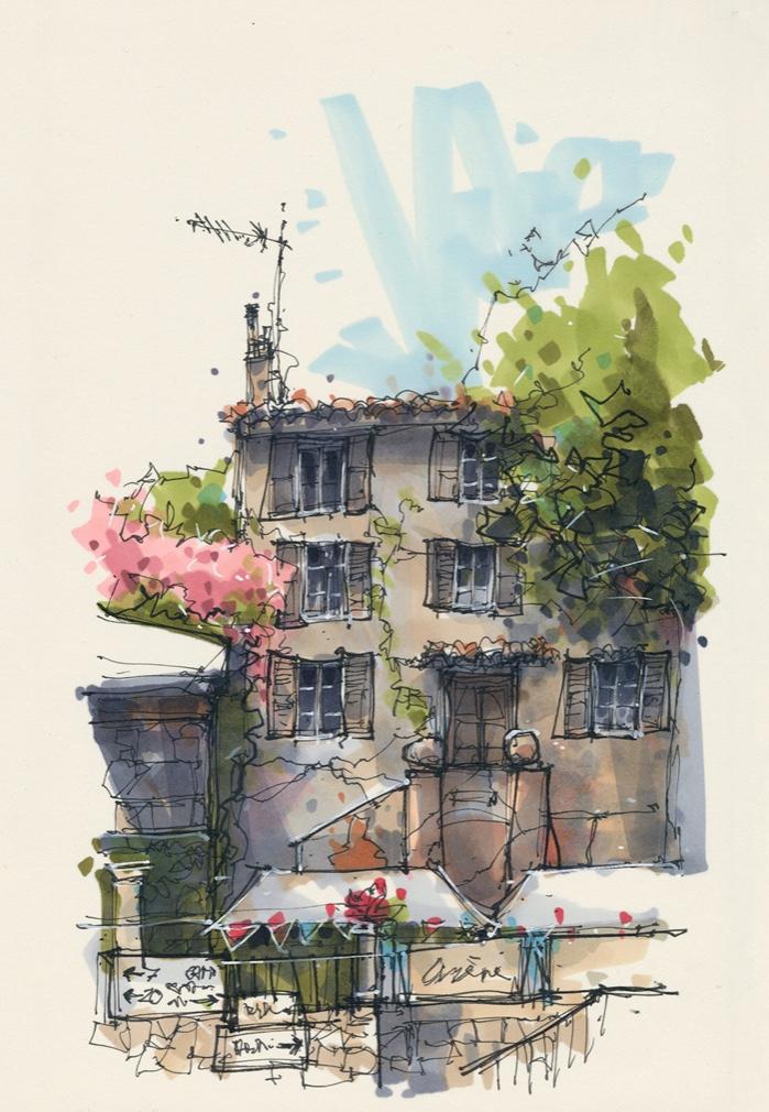Cours Gambetta, Cotignac, Provence, France