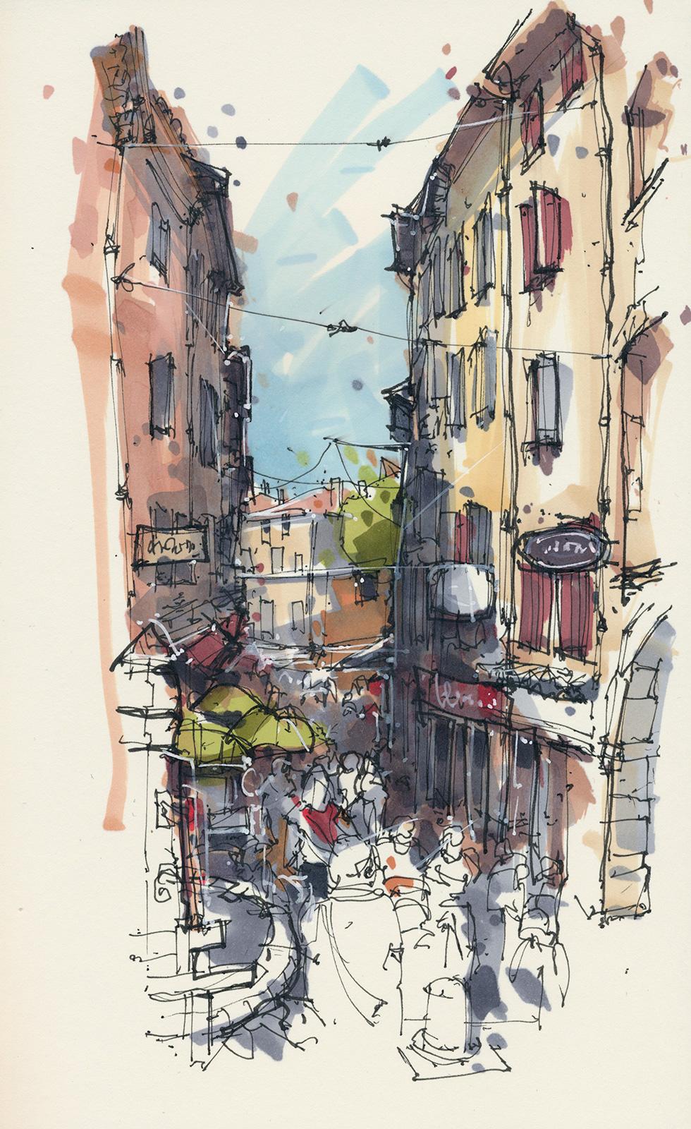 Rue du marche, Aups
