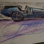 Bugatti 35 sketch