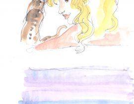 Gato y rubia