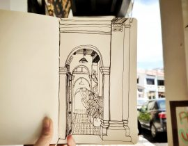 Time captured in my moleskine sketchbook