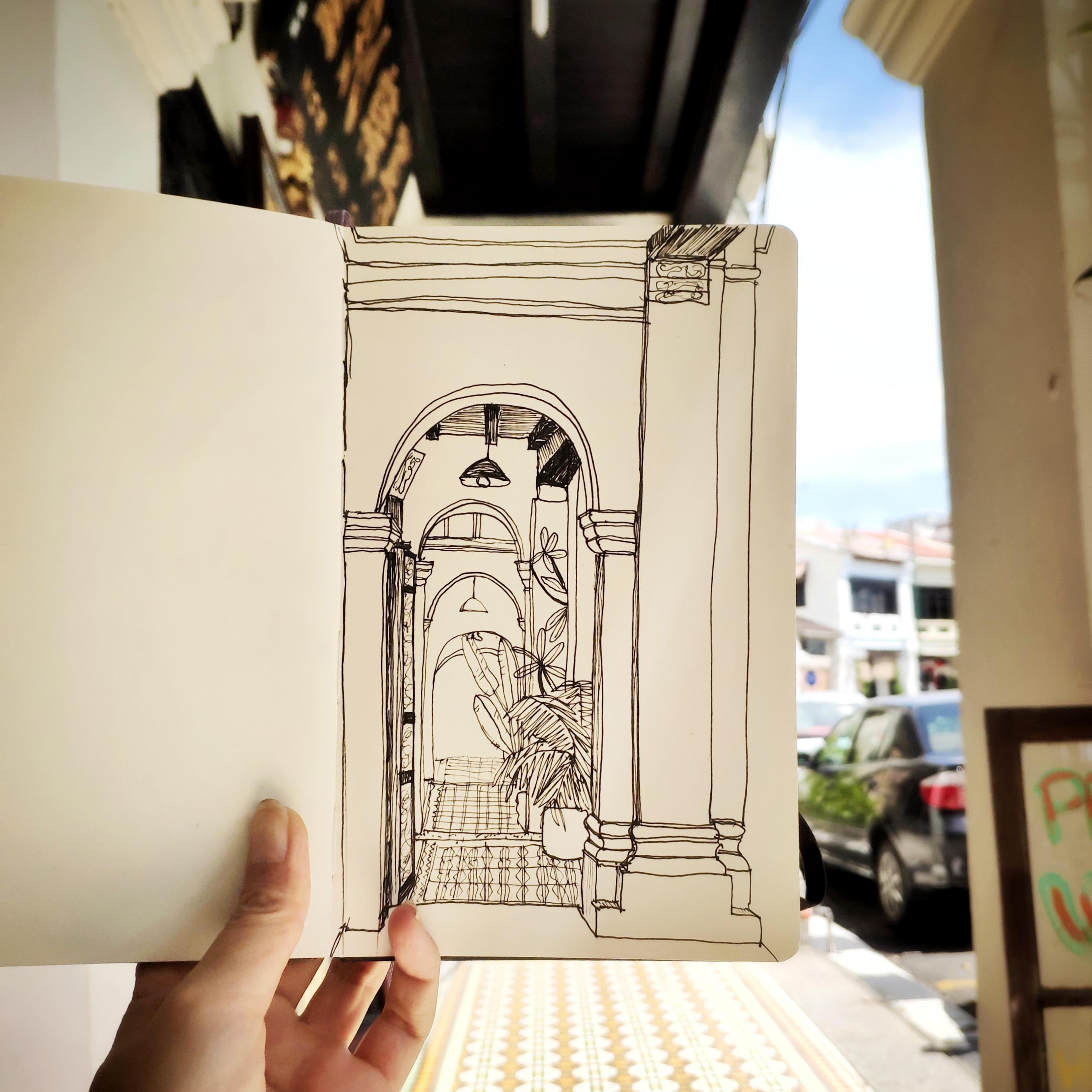 Time captured in my moleskine sketchbook