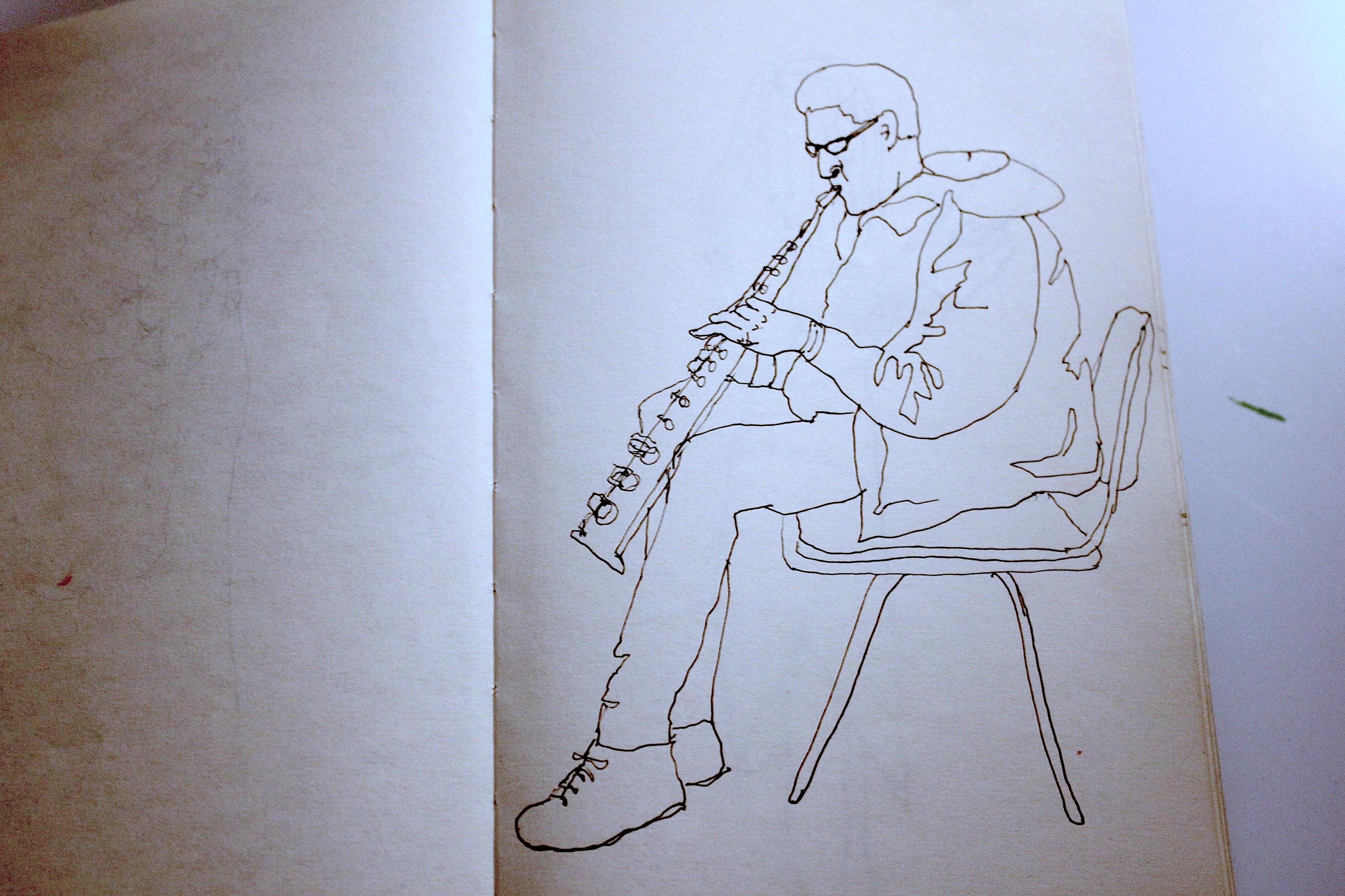 Clarinet player at Safehouse, Brighton
