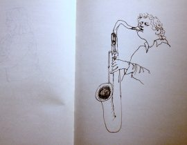 Saxophone player at Safehouse, Brighton