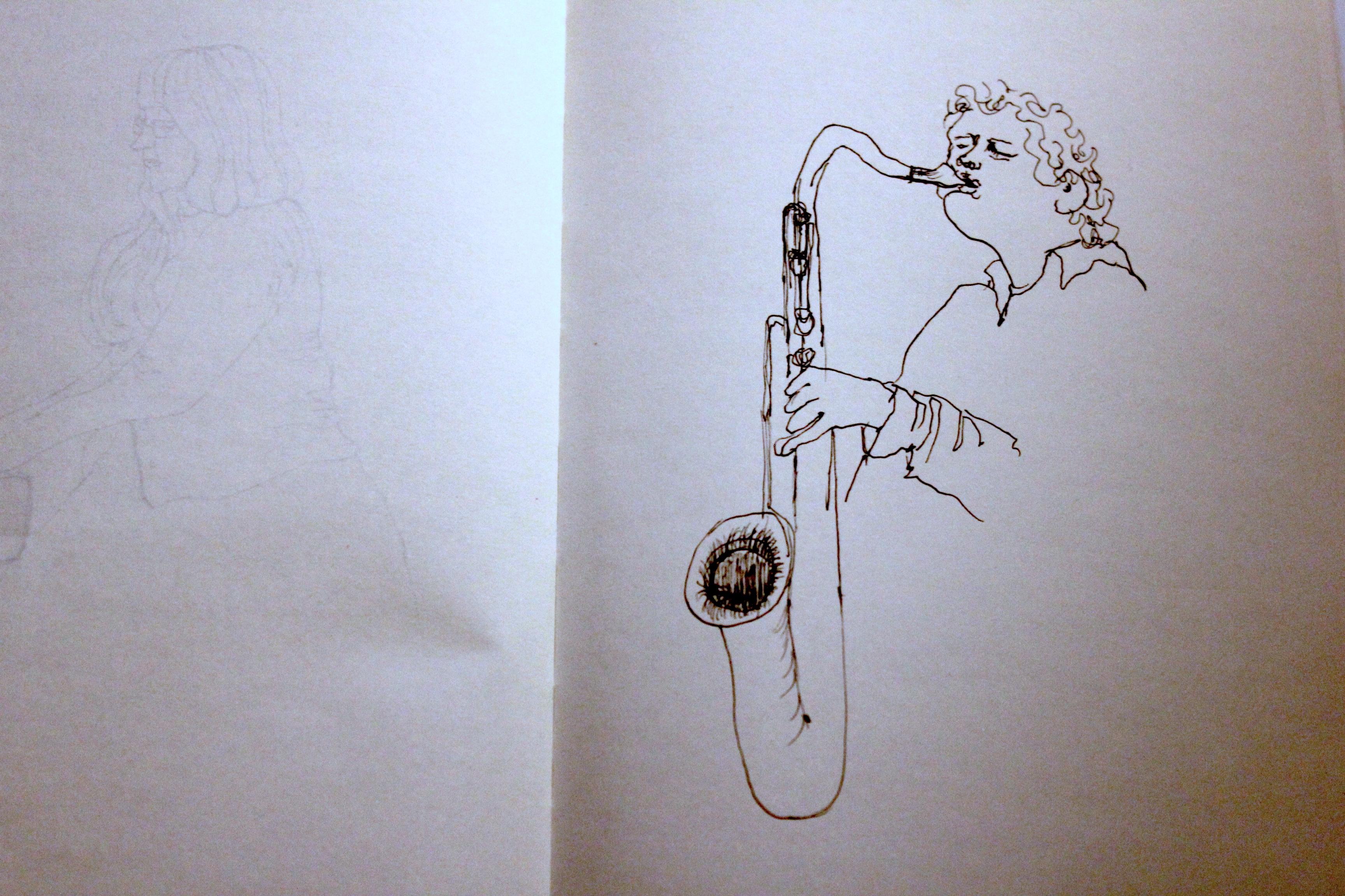 Saxophone player at Safehouse, Brighton