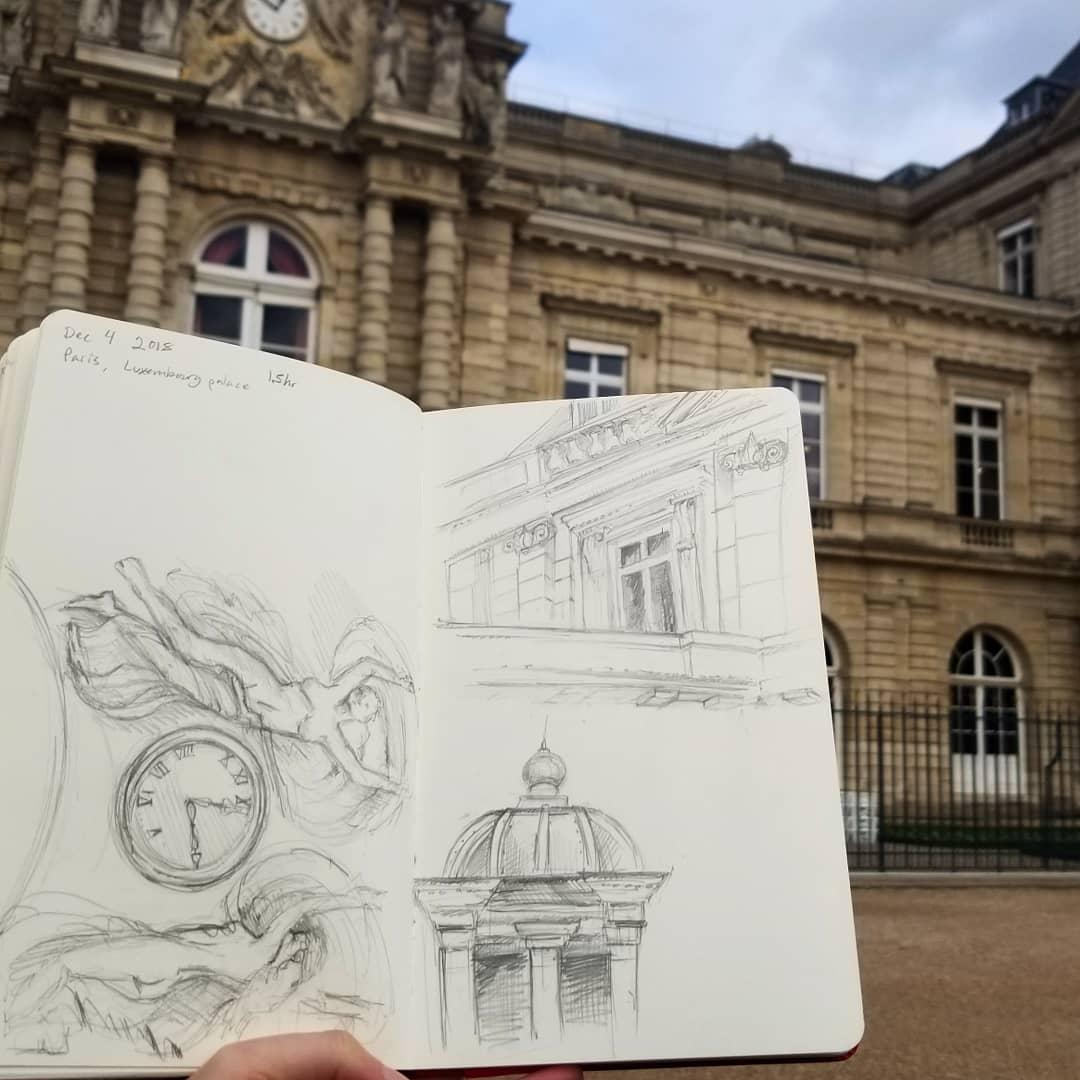 Drawing in Paris
