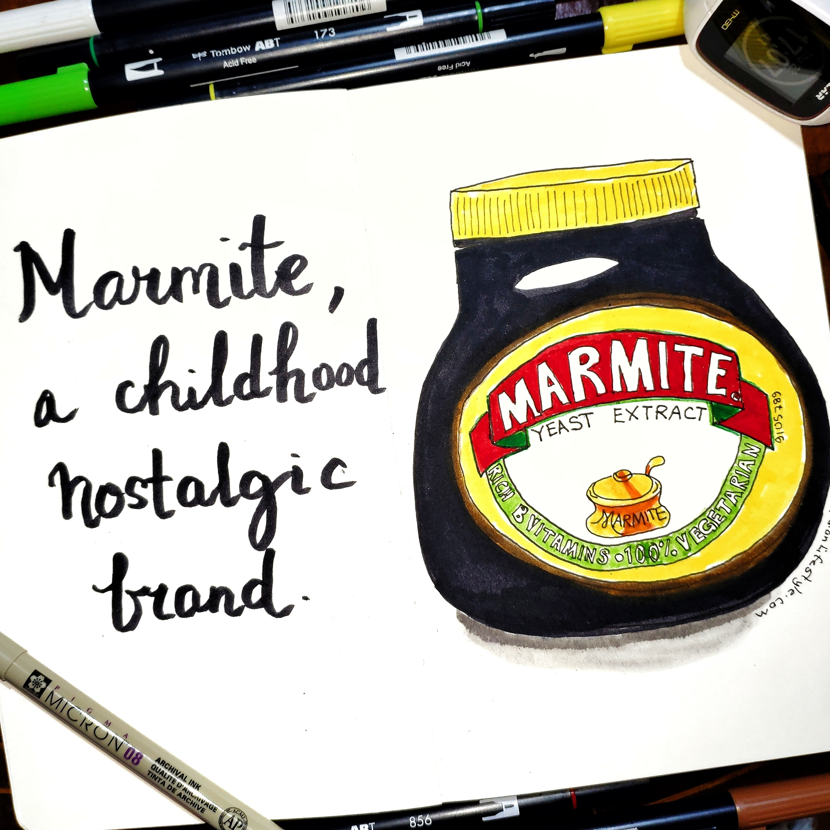 Drawing of Marmite