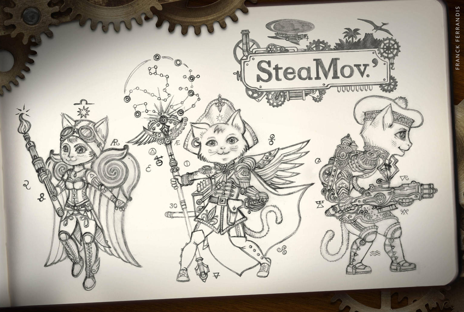 SteamCats (very old small classic reporter Moleskine)