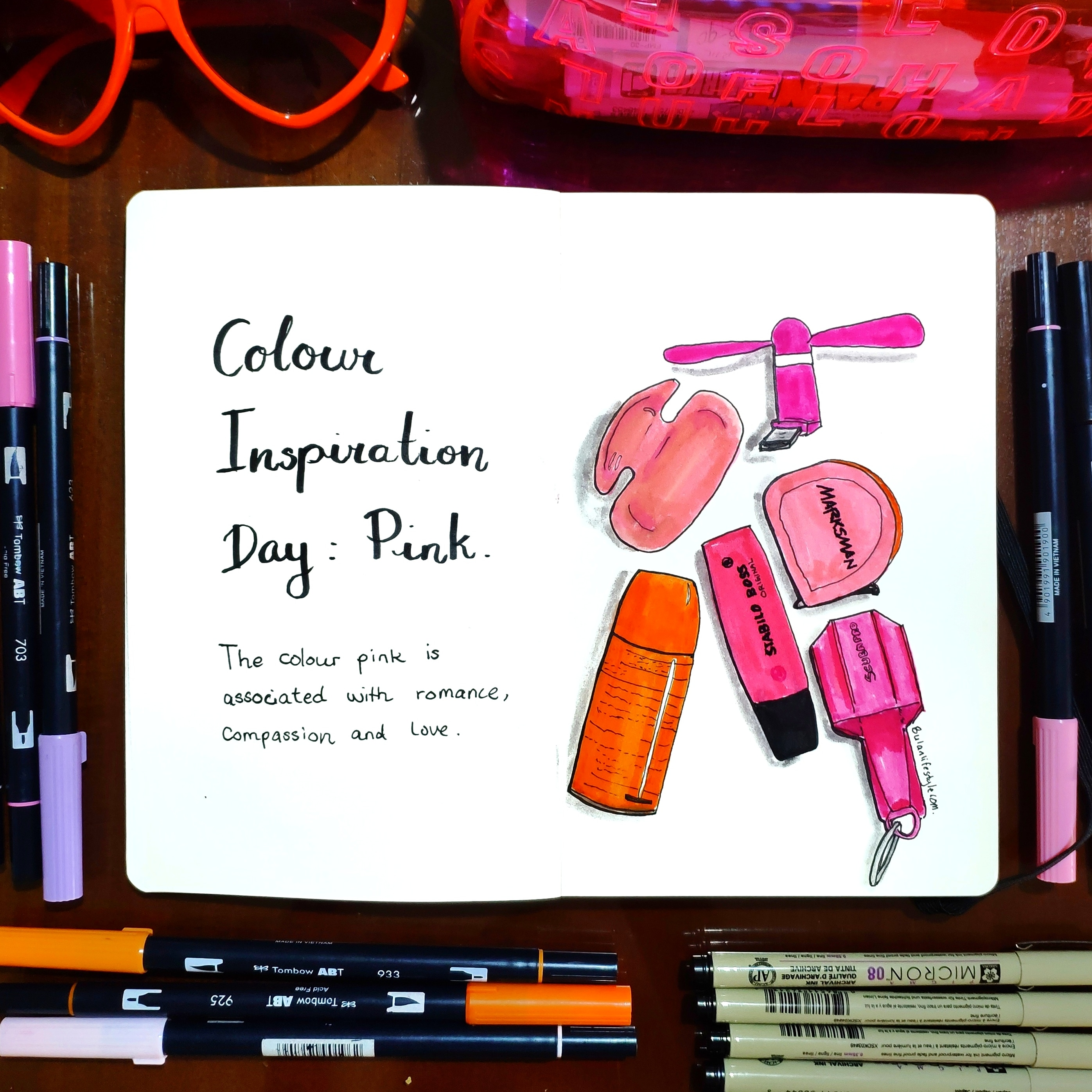 Colour inspiration day : pink