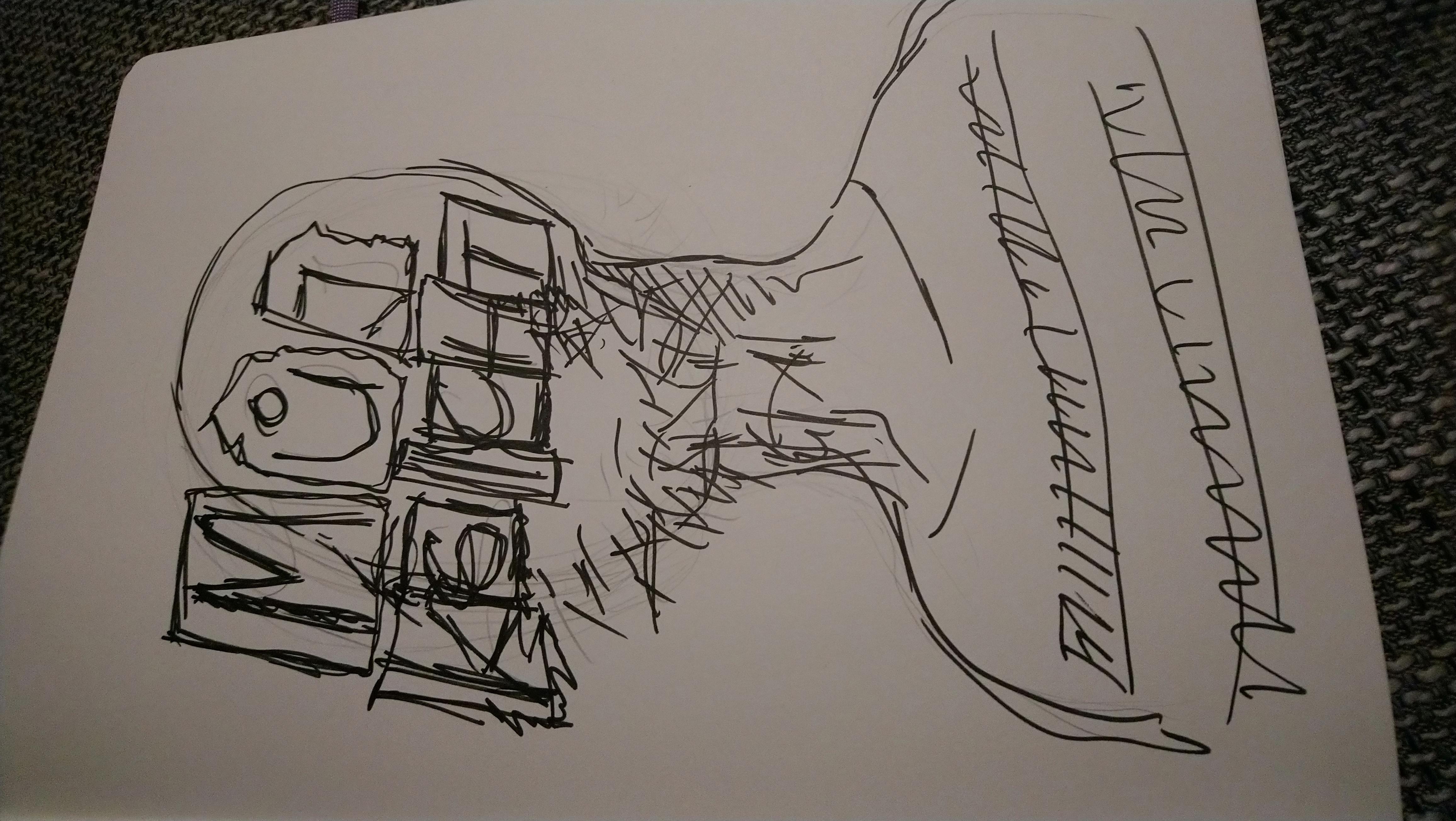 Autoportrait sketch