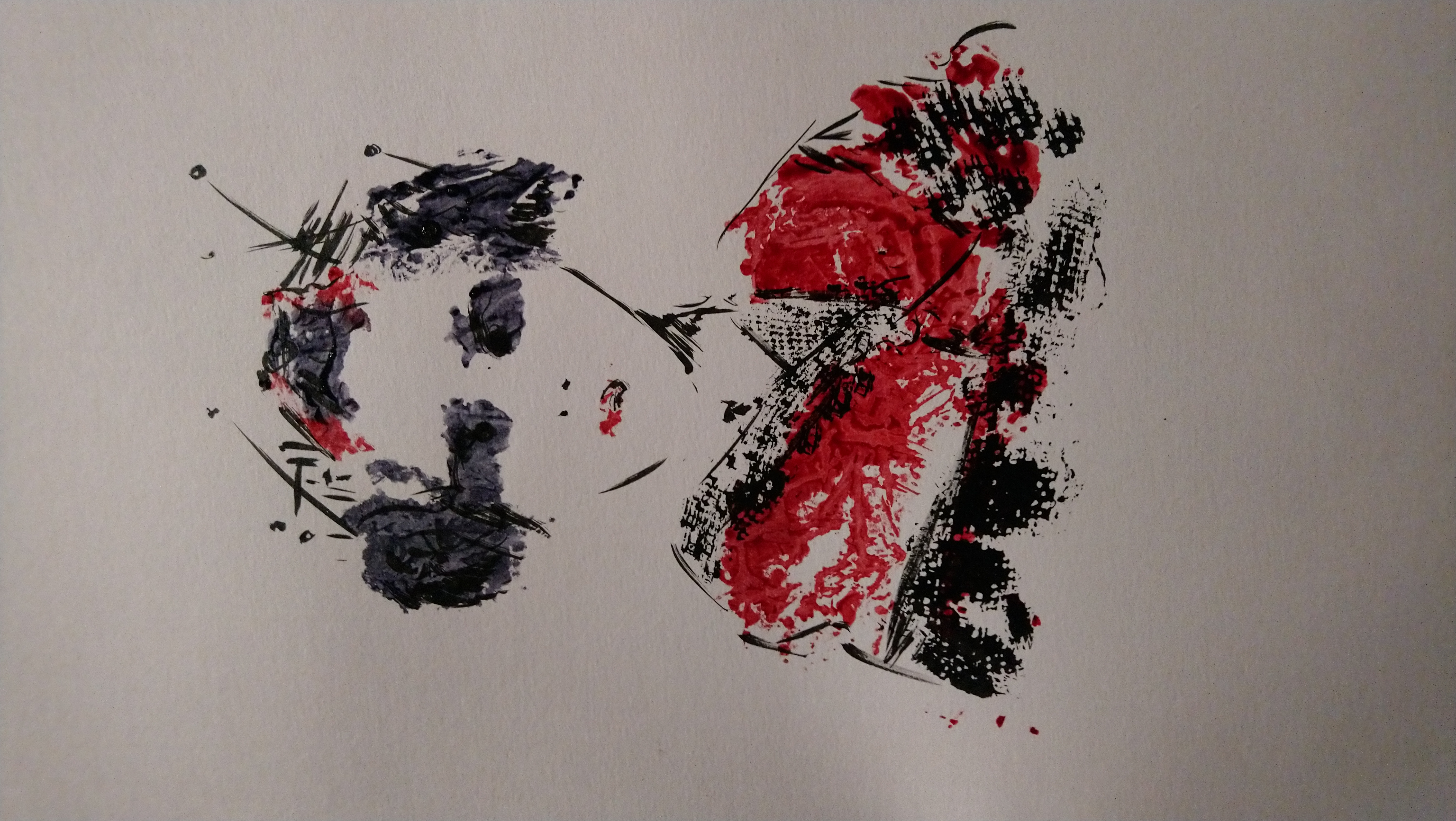 Geisha monoprinted
