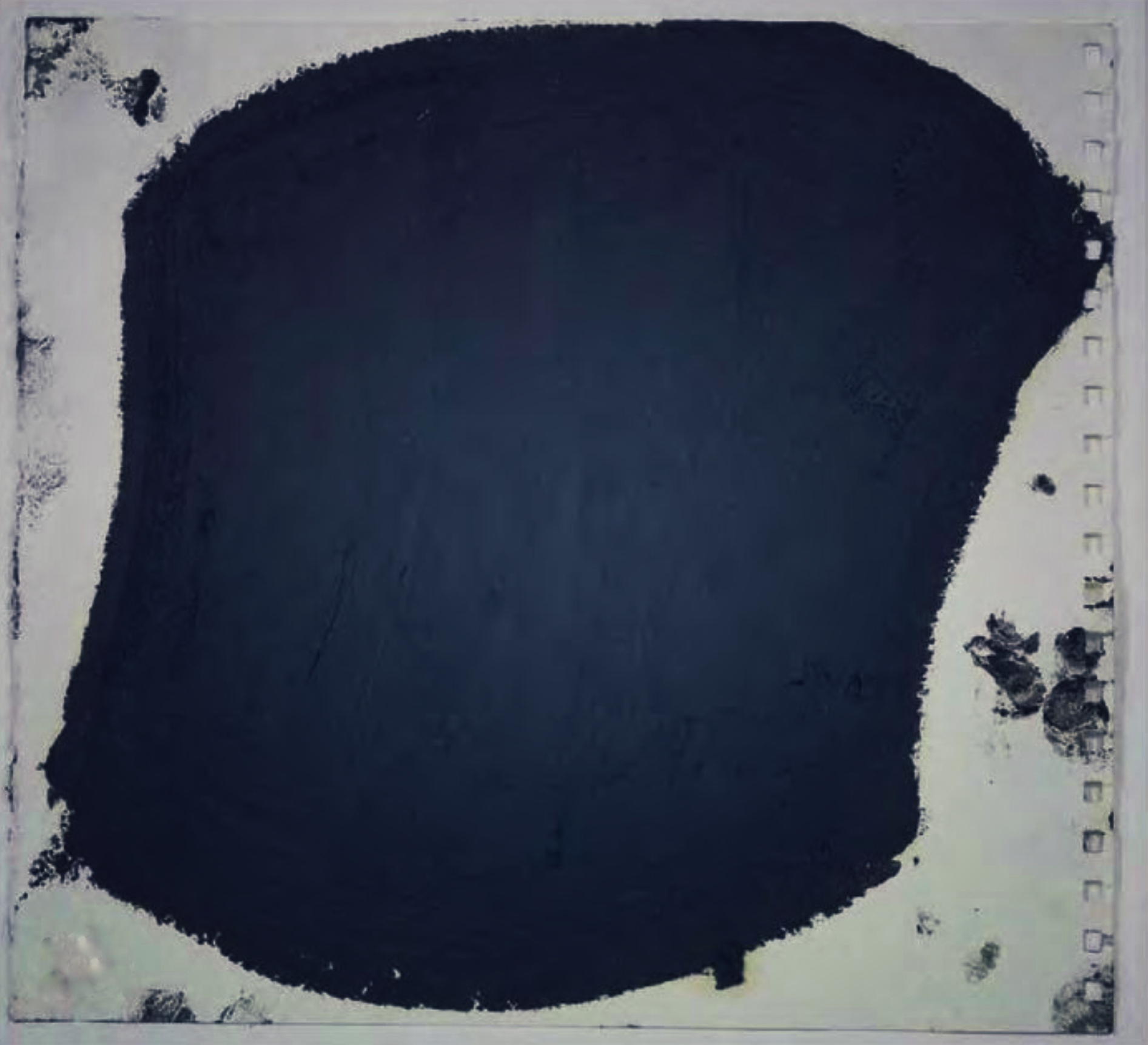 experimenting with black pigment