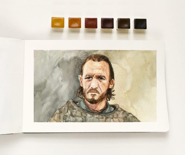 Portrait of Bronn from The Game of Thrones